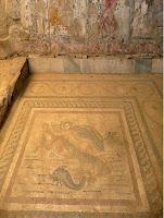 Mosaico procedente de la Casa de Europa. Yacimiento arquiológico de  Kos
