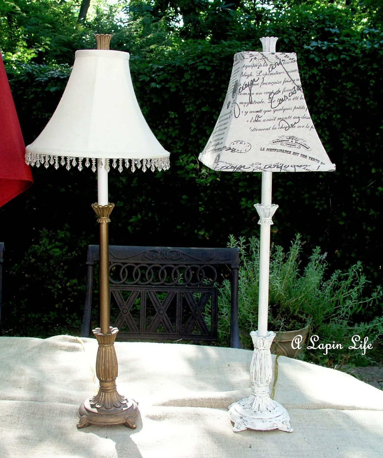 a lapin life how to update a lamp with annie sloan chalk. Black Bedroom Furniture Sets. Home Design Ideas