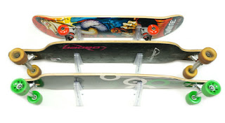 skateboard display rack clear