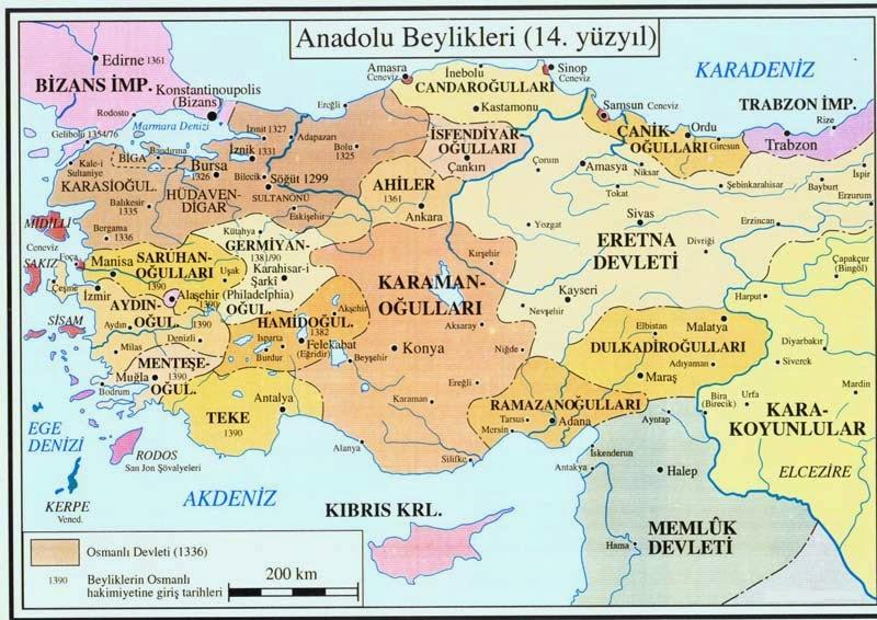 Osmanlı Yükselirken Anadolu Türk Beylikleri