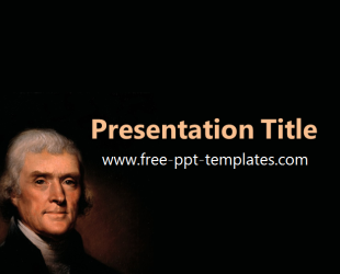 thomas jefferson ppt template free powerpoint templates. Black Bedroom Furniture Sets. Home Design Ideas