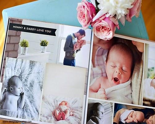 Un premier album photo bébé