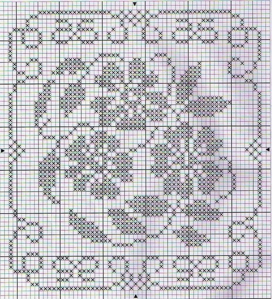 схема филейного вязания крючком тыква