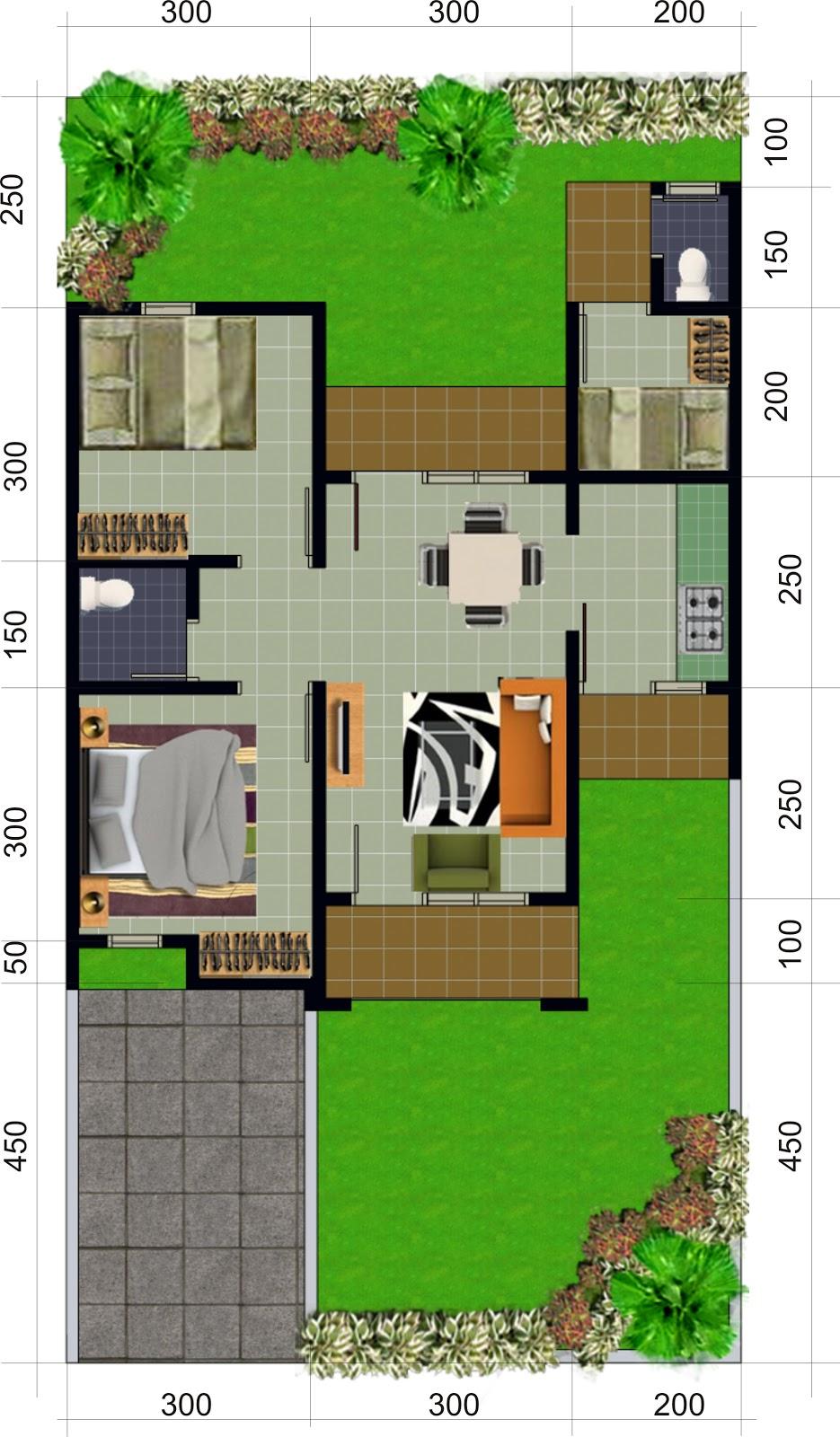 rumah type 56 perumahan pesona intiland