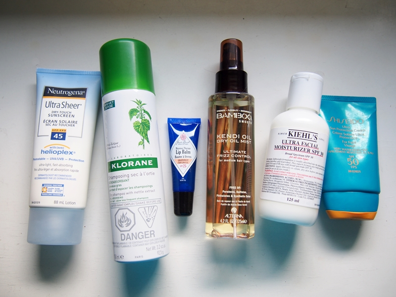 summer skincare and haircare products essentials