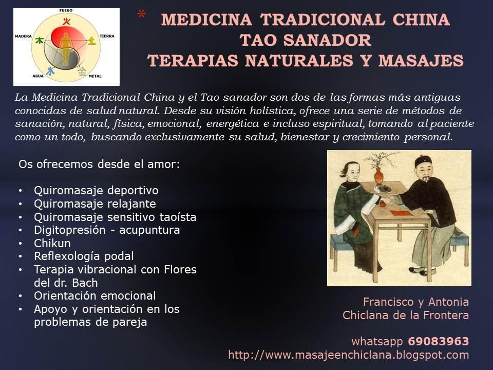 MEDICINA TRADICIONAL CHINA Y QUIROMASAJES