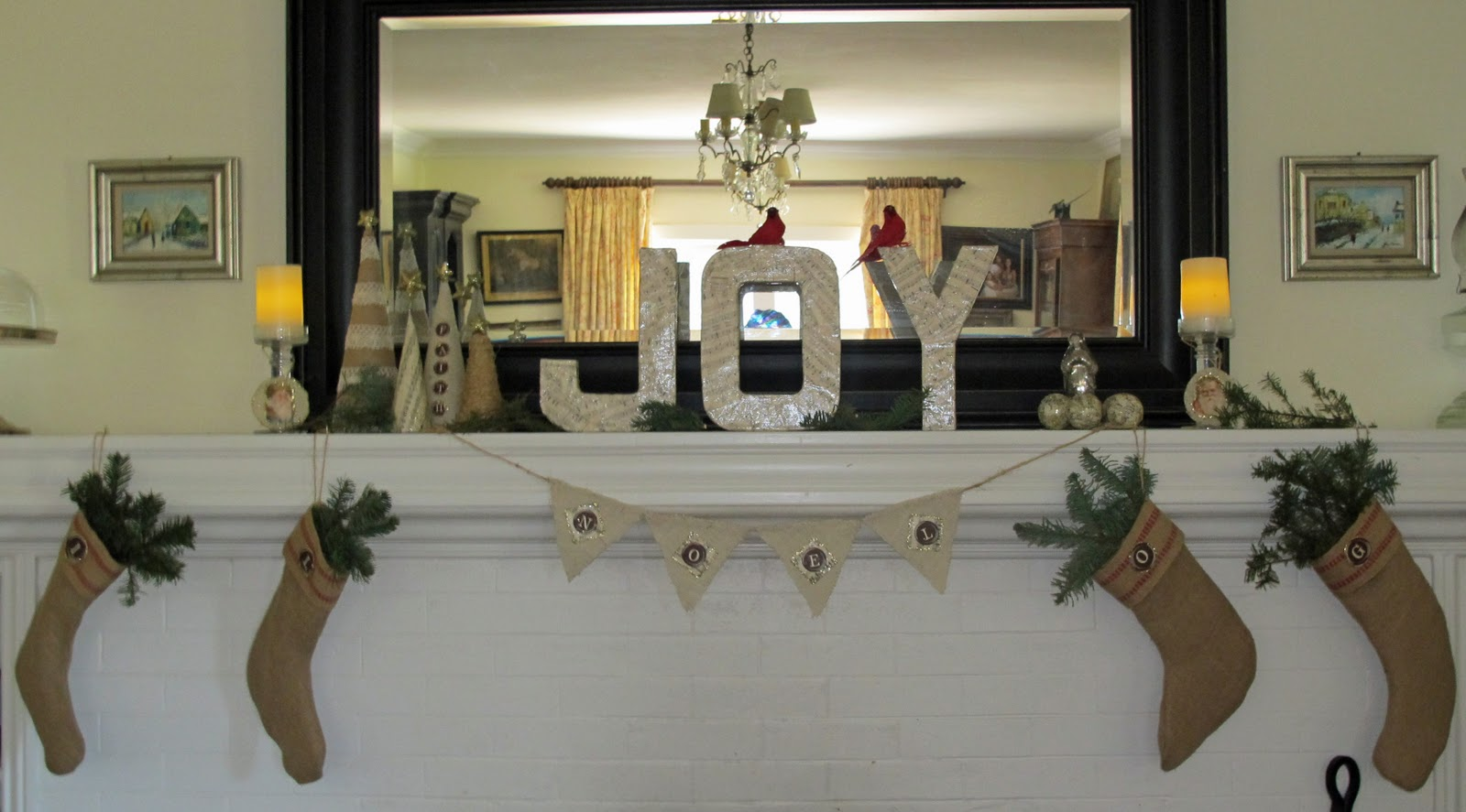 My Mantle Theme This Year Is Burlap Sheet Music And Typewriter Keys Click Here To View Covered Letter Tutorial