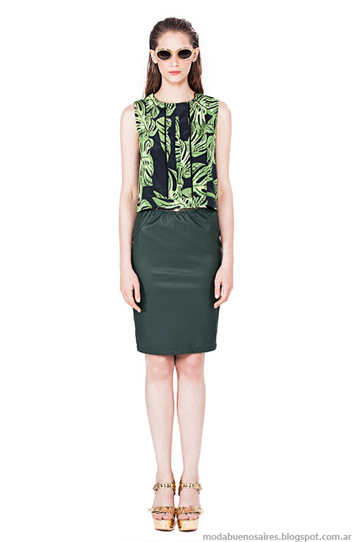 Faldas primavera verano 2015 ropa de mujer.