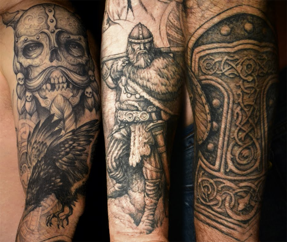 viking sleeve tattoos