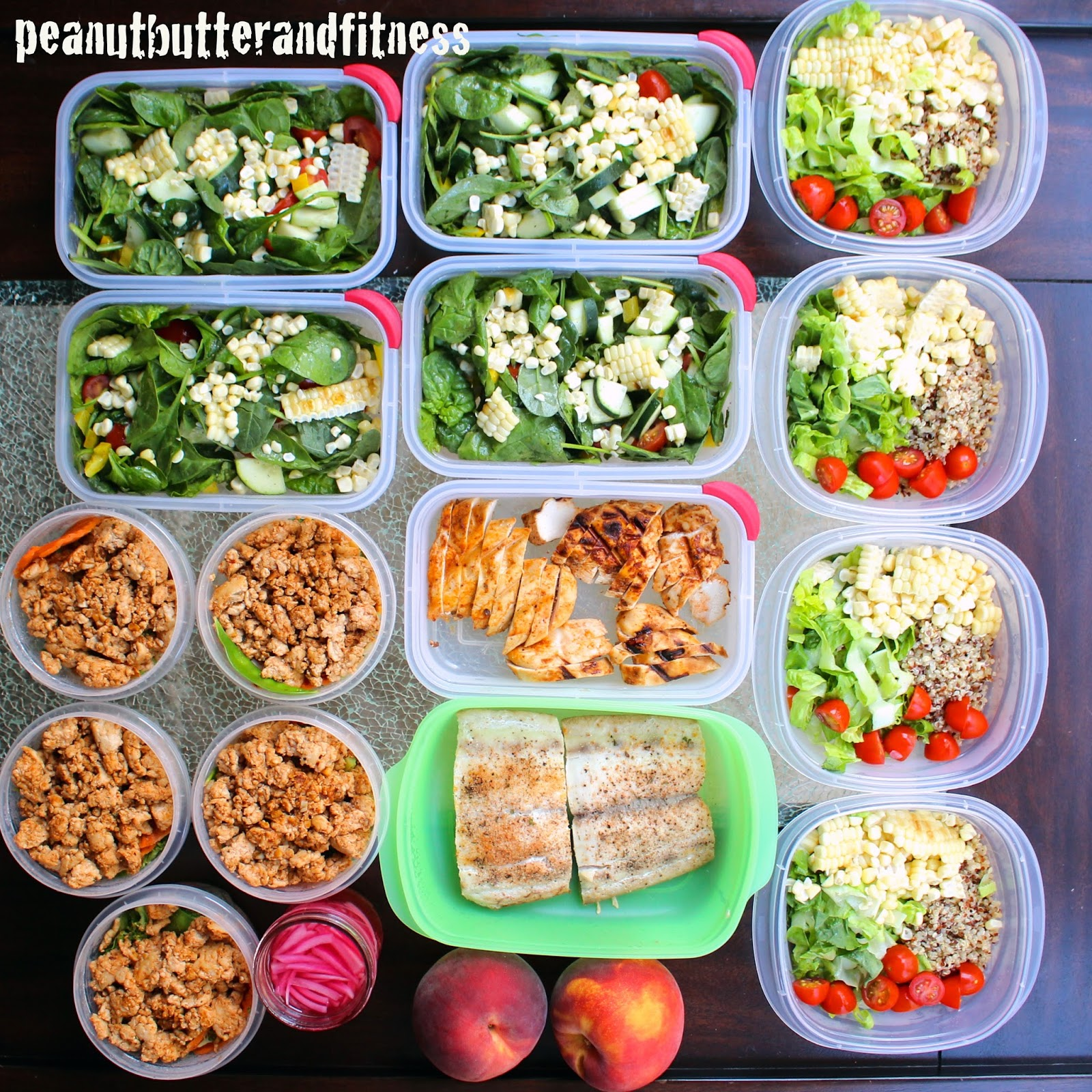 meal prep ideas - week of september 7th - peanut butter and fitness
