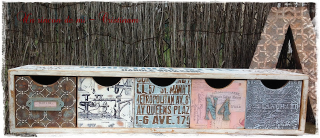 Un rinc n de mi trabajos en estilo industrial caja cajonera y letra - Cajonera estilo industrial ...