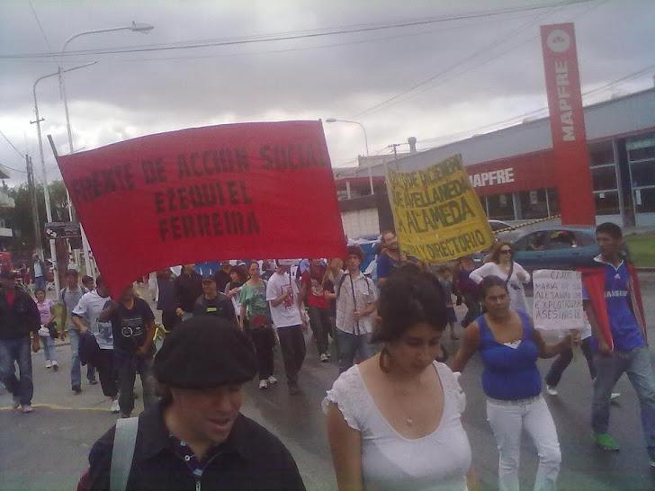 Masiva marcha en Pilar, escrache a la sede central de Nuestra Huella S.A y a la Fiscalía