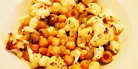Garbanzos con coliflor al curry