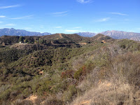View north toward Glendora Mountain Road from Lower Monroe Road (2N16), Angeles National Forest