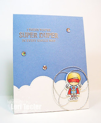 Super Duper card-designed by Lori Tecler/Inking Aloud-stamps and dies from Mama Elephant