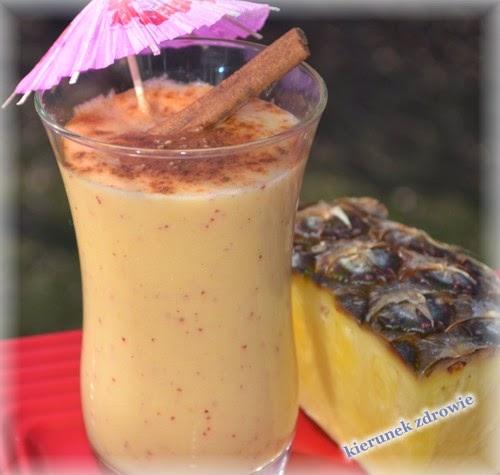 Koktajl ananasowo-jabłkowy