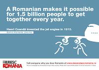 Why I Love Romania?  De Ce Iubesc Romania? Henri Coanda poster