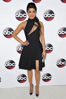Priyanka Chopra in sexy cut out dress at the Disney ABC Television 2016 Winter TCA Tour red carpet photo