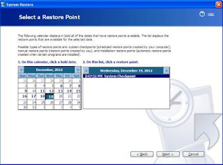 restore your pc from an earlier date