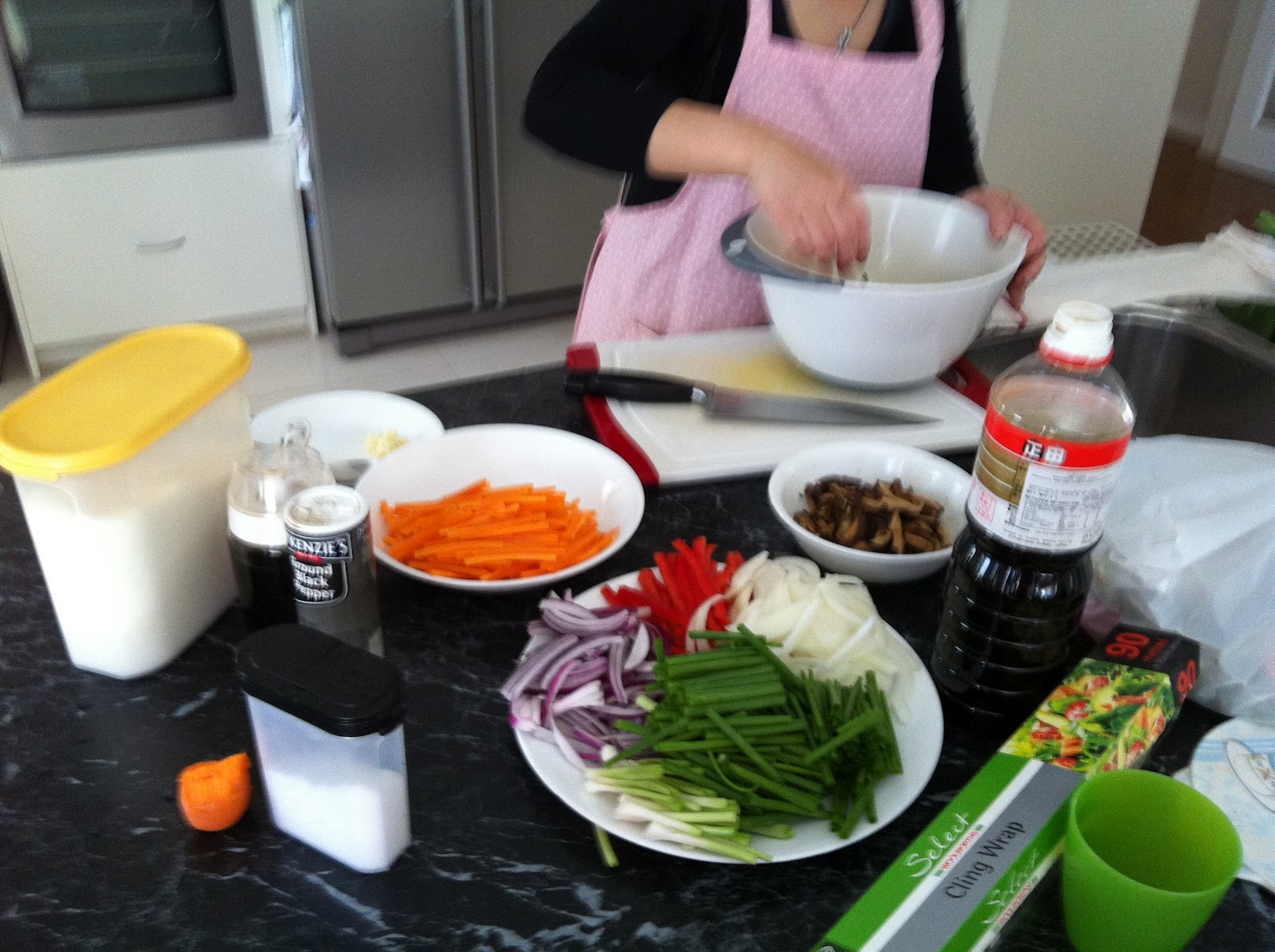 Japche cooking