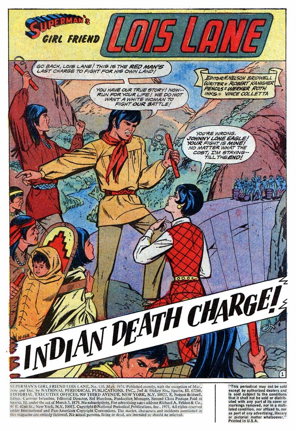 The bronze age of blogs lois lane in indian death charge supes smugly misses the point and tells lois the race war is over and her looking right at us and telling him its only a cease fire you go sister altavistaventures Choice Image