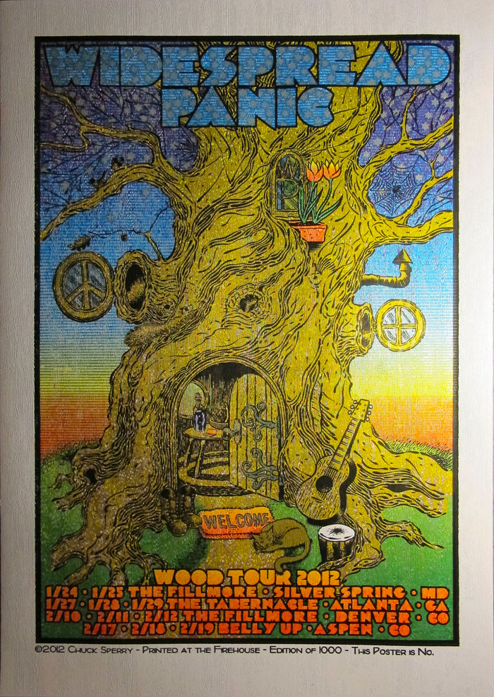 Inside The Rock Poster Frame Blog Chuck Sperry Widespread