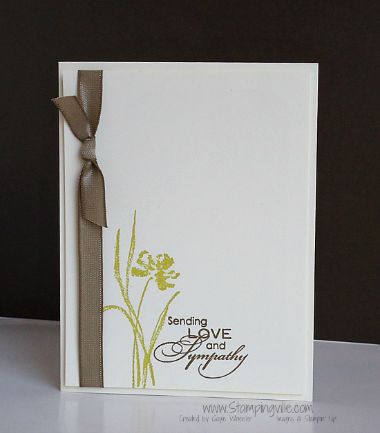 Clean & simple sympathy card. #handmade #StampinUp #Stampingville