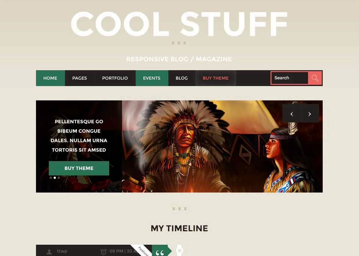 COOLSTUFF – BLOG/MAGAZINE WORDPRESS THEME
