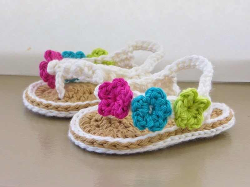 Crochet Flip Flops Pattern For Baby In English And French Versions