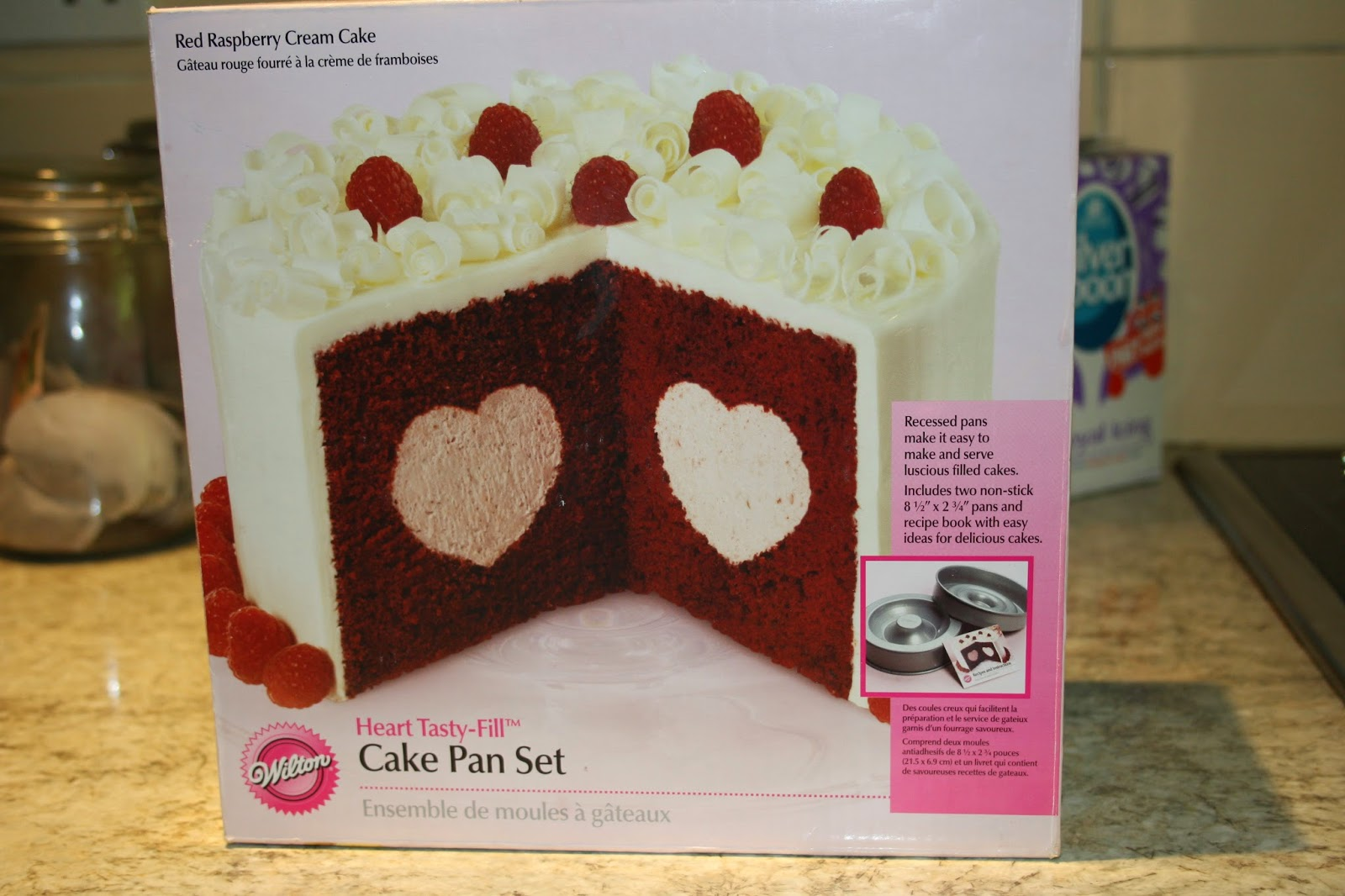 Caroline Makes Wilton TastyFill Heart Pan Engagement Cake