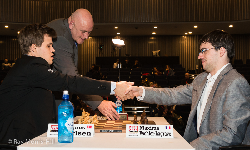 Départage final: Magnus Carlsen 1.5-0.5 Maxime Vachier-Lagrave - Photo © Ray Morris-Hill