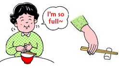 Stop eating when you feel full.