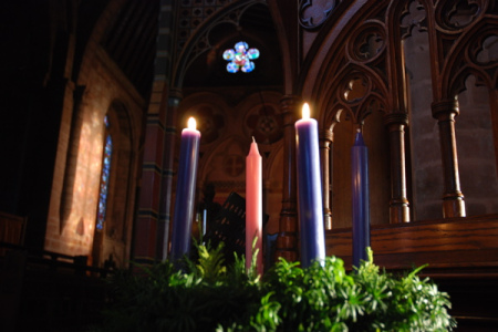 few things get church folks more riled up than a conversation about what color candles to use in the advent wreath all purple all white all blue