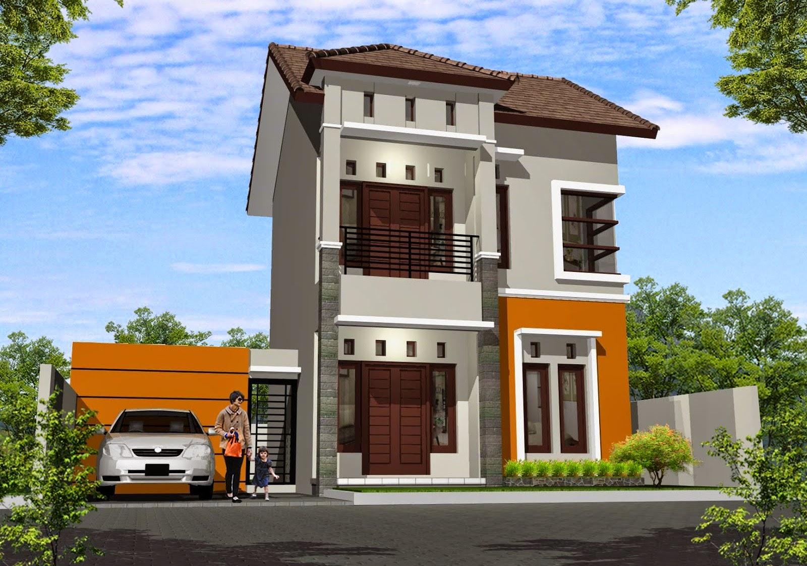 10 desain denah rumah minimalis modern 2 lantai type 45 - Desain Rumah Minimalis 2 Lantai Modern Sederhana