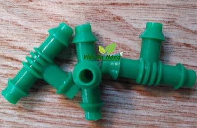 Chữ tê xanh chia ống dẻo 6mm