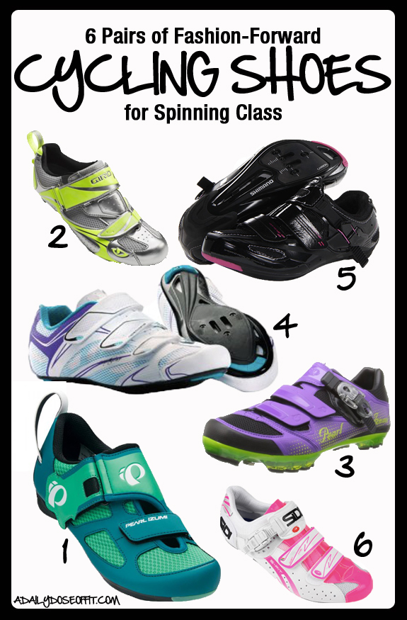 6 Pairs of Fashion-Forward Cycling Shoes for Spinning Class