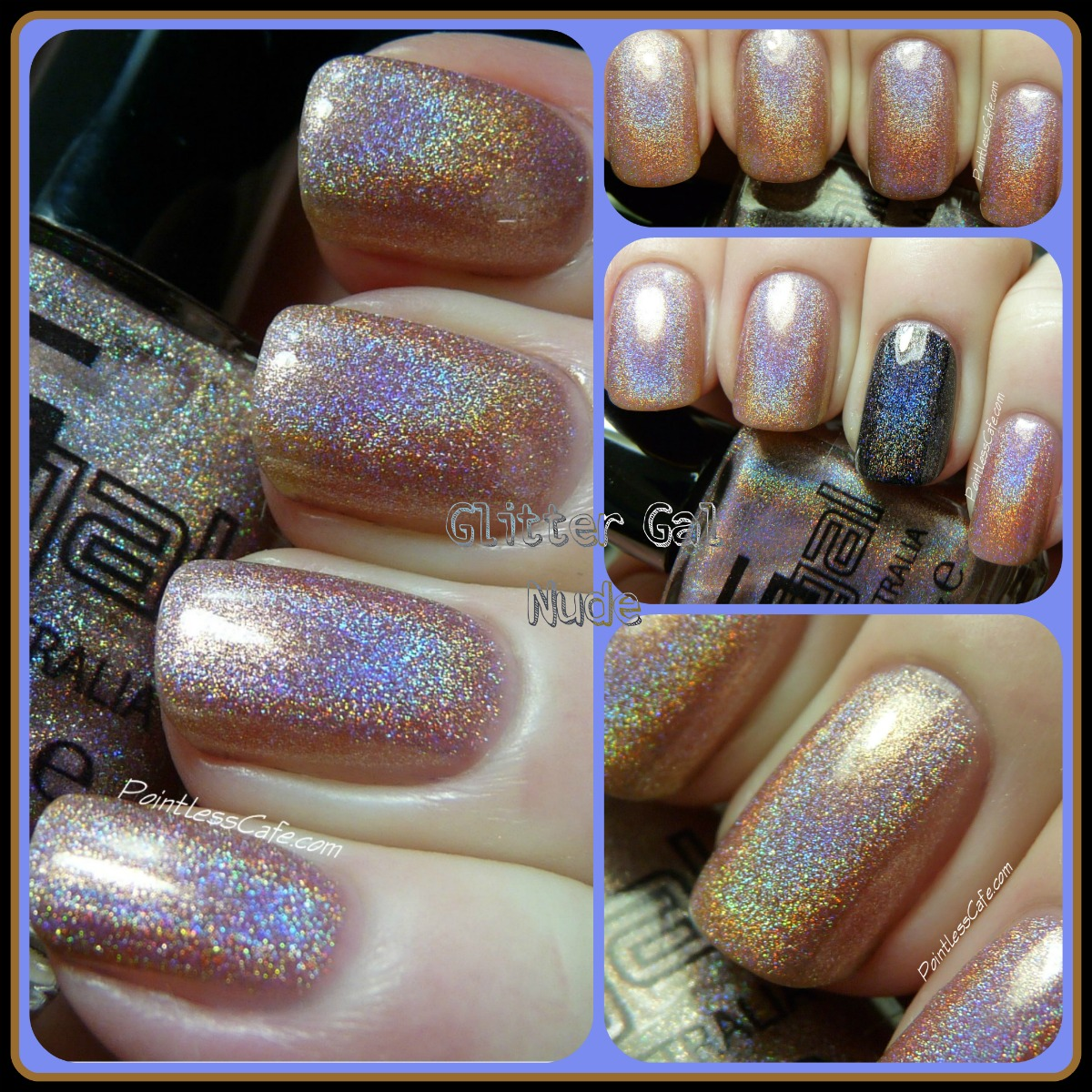 budding beauties nude Nude is a light tan or champagne linear holographic polish with strong blue and purple rainbow arcs. Same great formula as Lizard Belly.