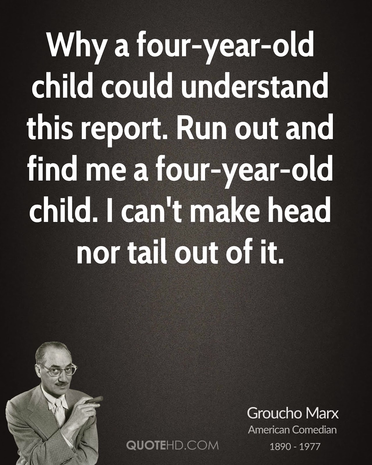 groucho marx 4 year old