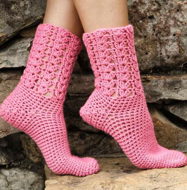 Stylish Easy Crochet: Warm Socks - Crochet Socks For Both ...