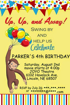 Ladditude Parker Turns Four With A Curious George Party