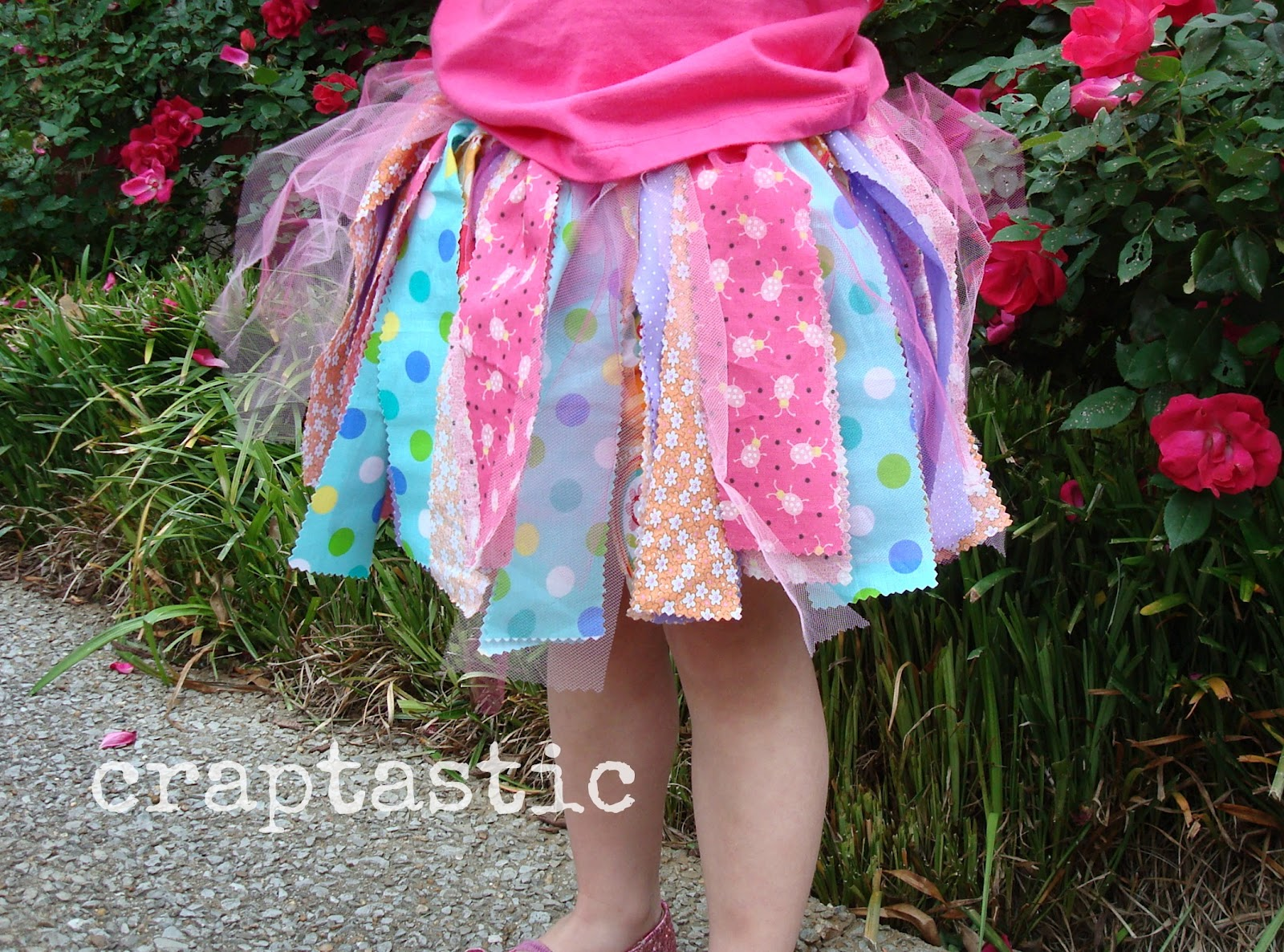 You don't need a sewing machine to make this fun and easy craft project. Old cotton sheets and fabric scraps are knotted around elastic to make this darling tutu skirt.