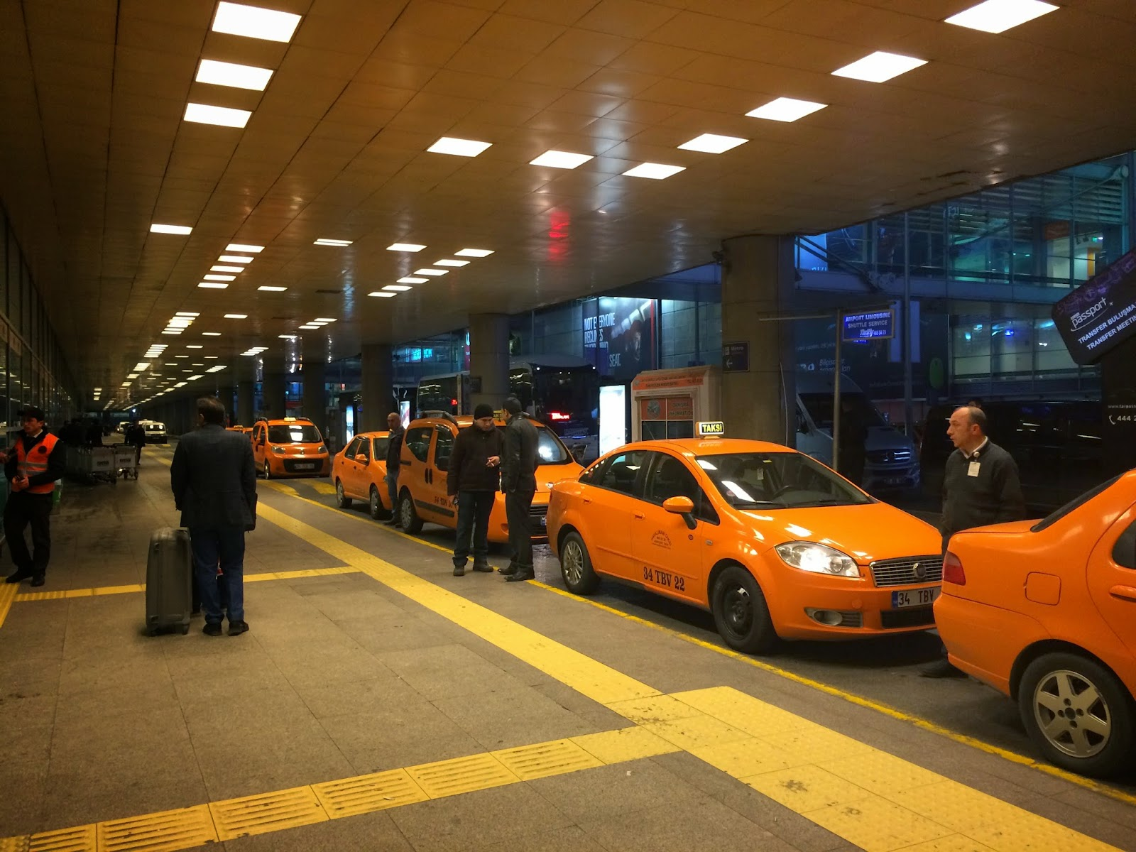 taxi stand outside of Istanbul airport