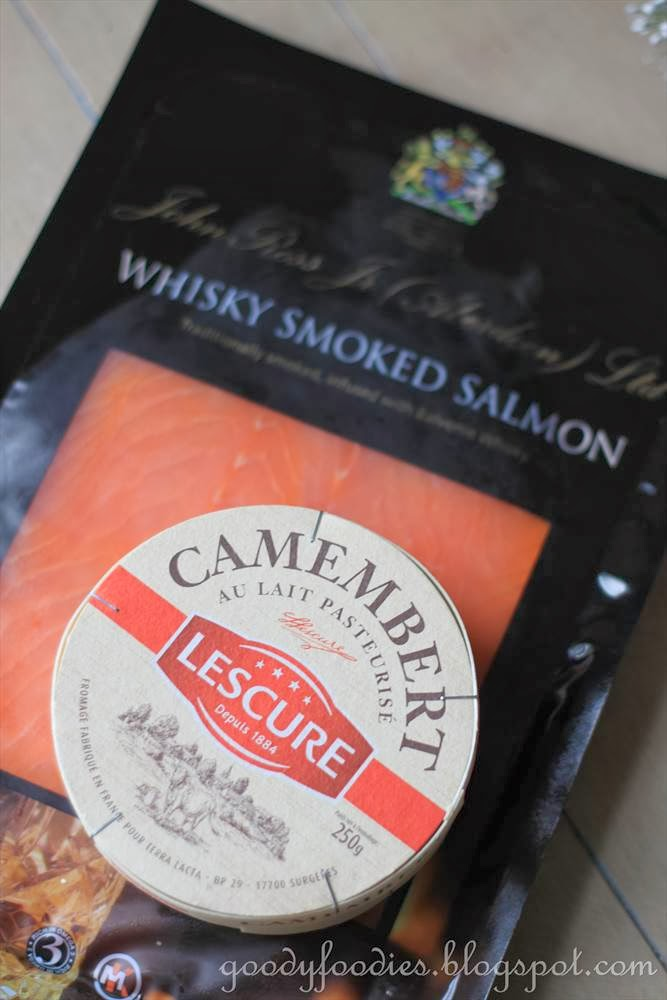 ... Ross Jr (Aberdeen) Scottish Whisky Smoked Salmon + Lescure Camembert