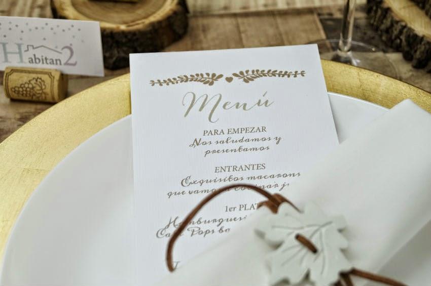 Invitaciones y cartelería personalizada para bodas de HABITAN2