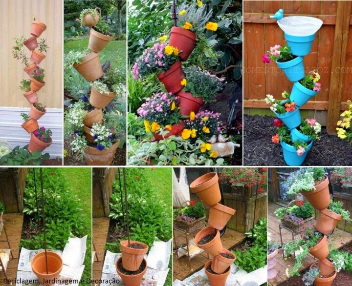 How to recycle june 2015 - Decoration de jardin avec des pots en terre ...