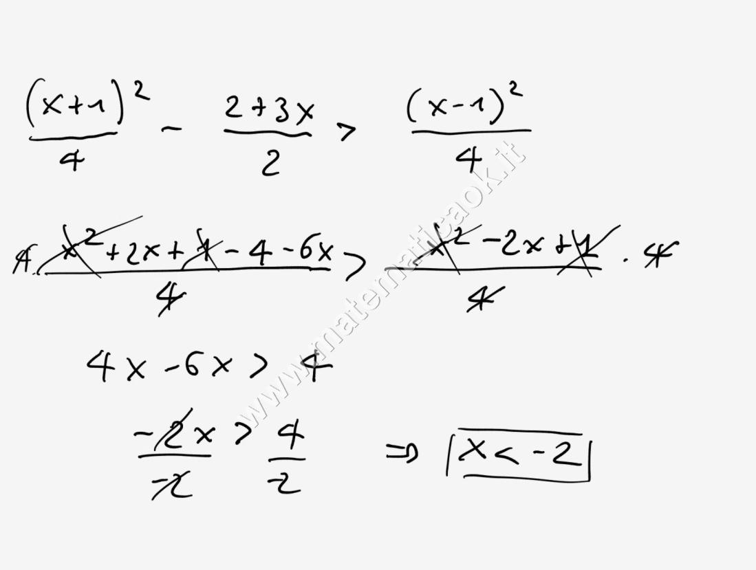 Esercizi svolti di matematica esercizio 1 disequazioni for Problemi di primo grado a due incognite esercizi