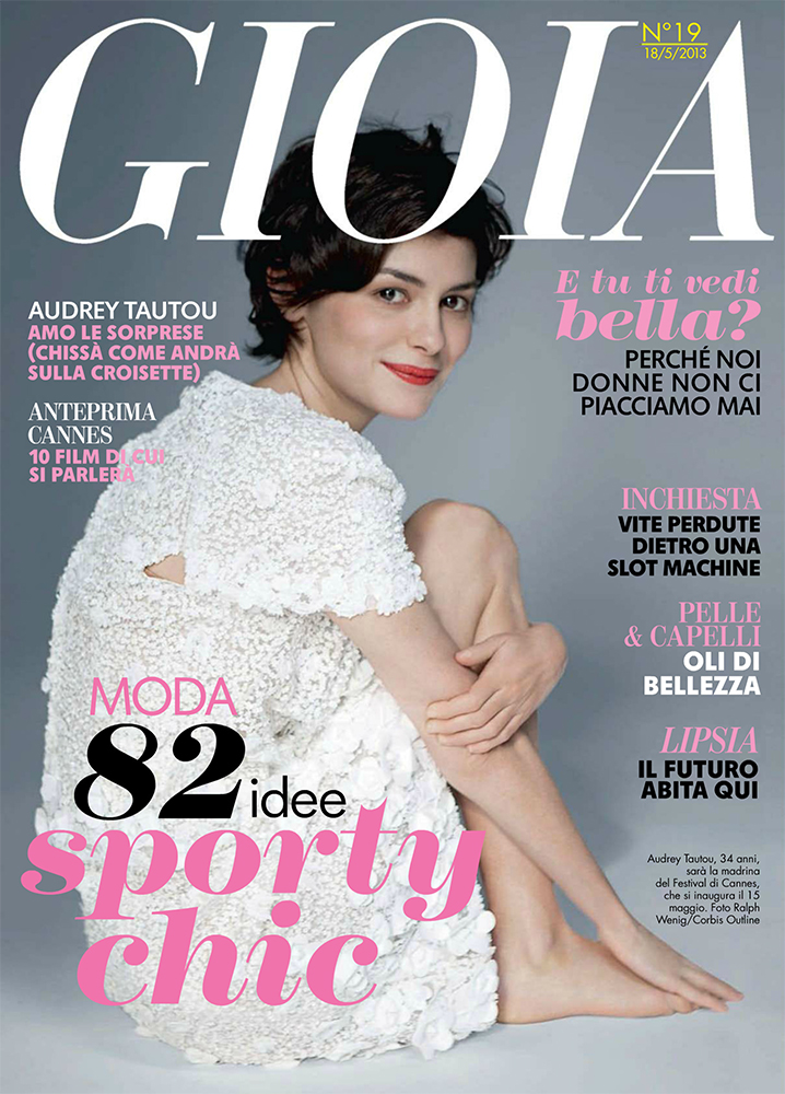 Audrey Tautou Cover for Gioia May 2013 |MagSpider