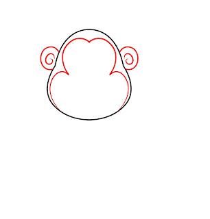 How To Draw A Cartoon Monkey Step 2