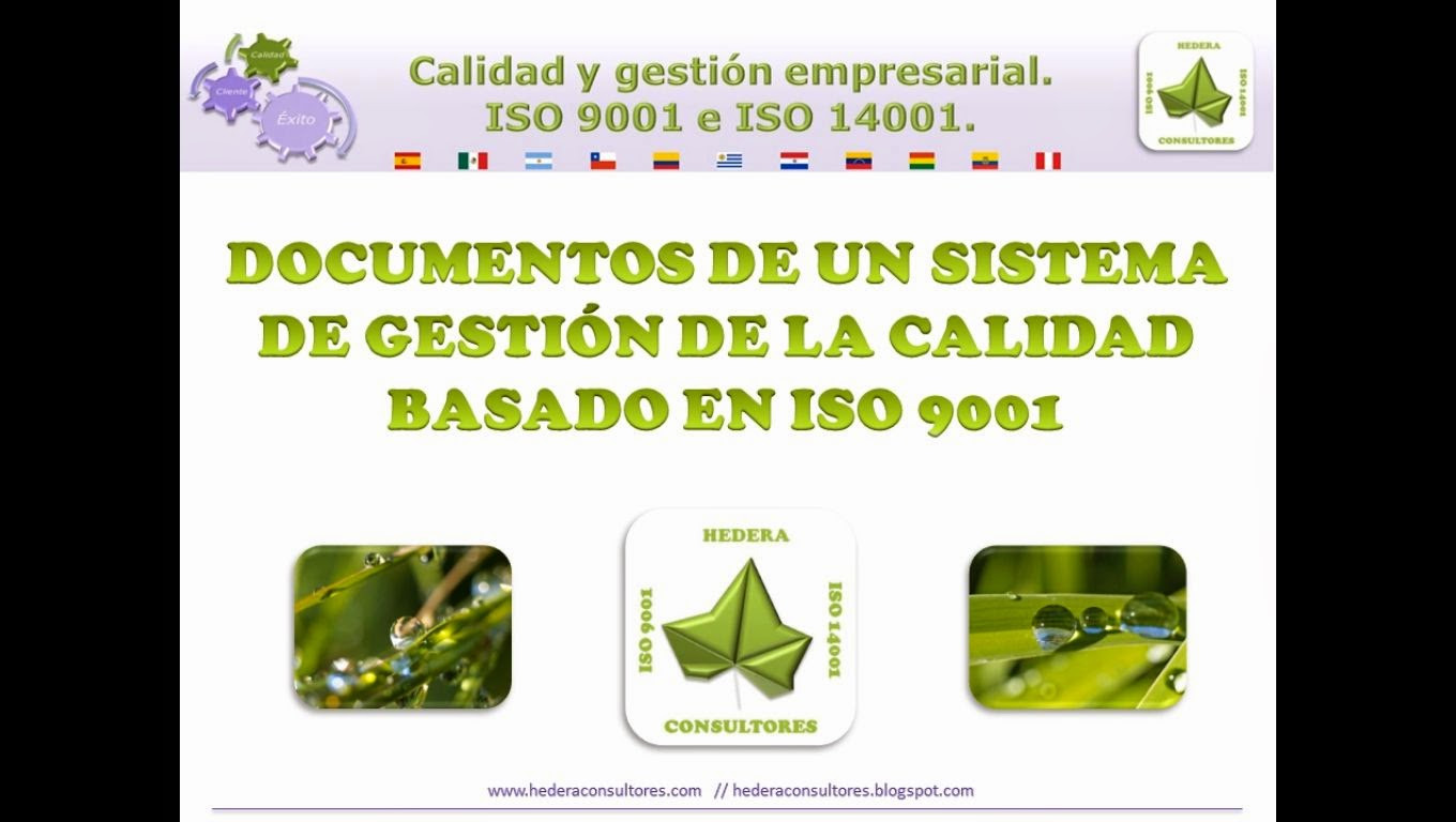 Tipos de documentos ISO 9001