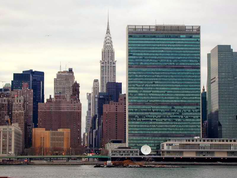 United Nations headquarter building